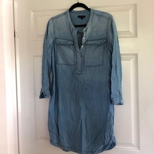 JCrew chambray shirt dress